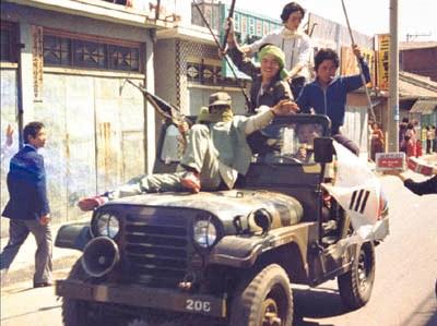 M16으로 무장한 시민군